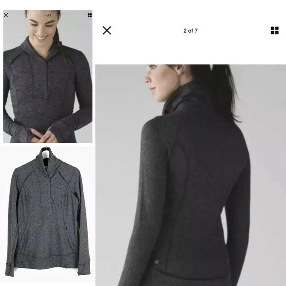 lululemon athletica Jackets & Blazers - Lululemon Think Fast Pullover herringbone jacket
